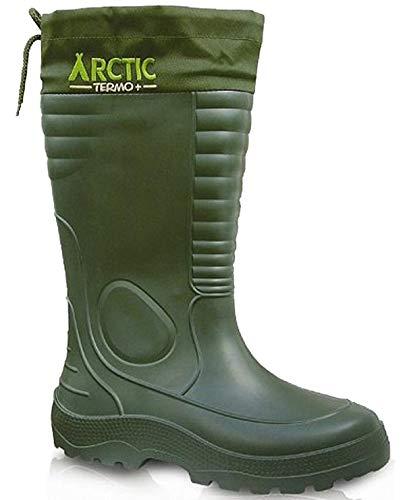 LEMIGO leichte Eva Gummistiefel Thermostiefel Arctic (Grün, 45)