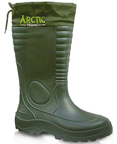 LEMIGO leichte Eva Gummistiefel Thermostiefel Arctic (Grün, 42)