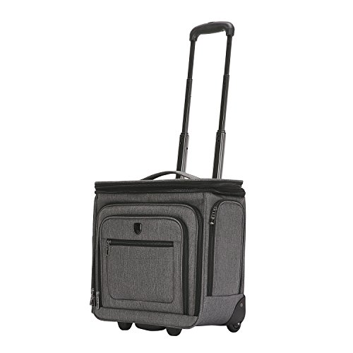 Travelers Club 16' Top Expandable Rolling Underseater W/USB Port, Dark Gray Suitcase, Carry