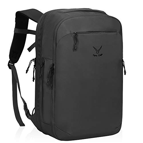 Hynes Eagle TSA Friendly Travel Backpack for Men Women Carry on Backpack 40L Flight Approved Laptop Backpack for 17 inches Compressible Weekender Bag Overnight Backpack Grey