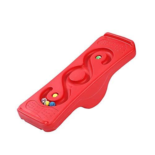 Columpio para NiñOs, BalancíN, Tablero de Equilibrio, IntegracióN Sensorial, Juego de Actividades Al Aire Libre para NiñOs, Adecuado para NiñOs de 4 a 12 añOs/rojo / 56x18.5cm
