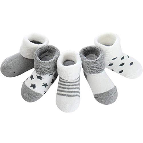 ZSWQ Calcetines de recién nacido Calcetines Invierno de Felpa para Bebés Vistoso Cálidos y Cómodos Calcetines de Invierno
