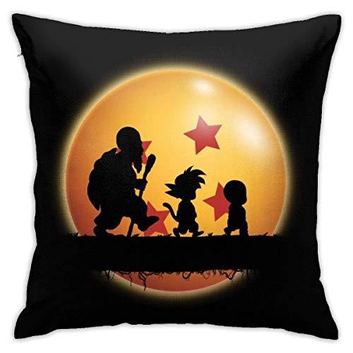 NotApplicable Pillow Cover Kame Forest Silhouette Dragon Ball Z Soggiorno Accogliente Divano Cuscini Casa Festa Federa Divano Letto con Cerniera Copriletto Coprisedili 45X45 Cm Decorativo Durevo