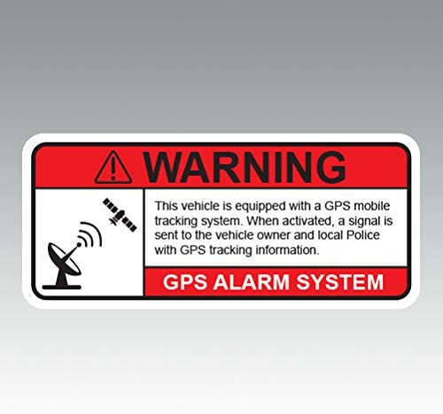 RDW GPS Anti Theft Vehicle Security Warning Alarm Color Sticker Decal Die Cut Size 1 25 x 0 product image