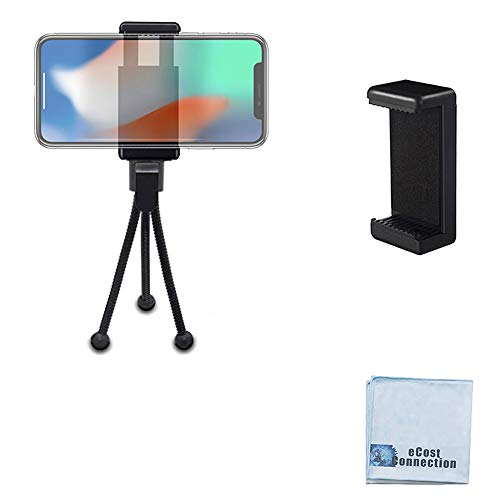 "5"" Inch Mini Tripod with Flex, Spider Legs for All Smartphones, Phablets, Small Cameras+ Frenzy Deals Microfiber Cloth"