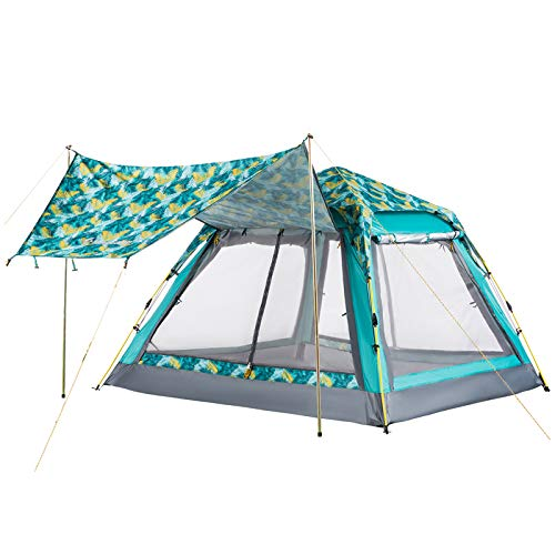 KingCamp Double Layer Waterproof Backpacking Square Top Tent, for Outdoor Camping Beach Hiking, PALMGREEN, One Size (KT3099_PALMGREEN_USVC)