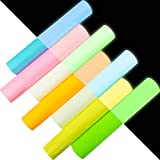 Zaione, set da 7 fogli da 25 cm x 30 cm che si illuminano al buio, in vinile, fluorescenti, fosforescenti, pellicola a pressione nottilucente in vinile, per magliette, abbigliamento