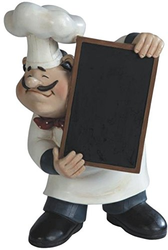 """George S. Chen Imports Chef Holding A Tray Figurine, 11"""""""