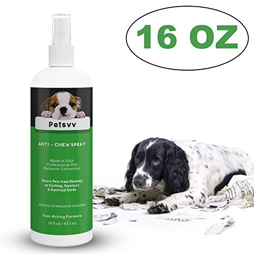 Anti Chew Spray Deterrent for Dogs, No Chew Pet Training Corrector to Stop Biting Non-Toxic Alcohol Free Made in USA - 16oz