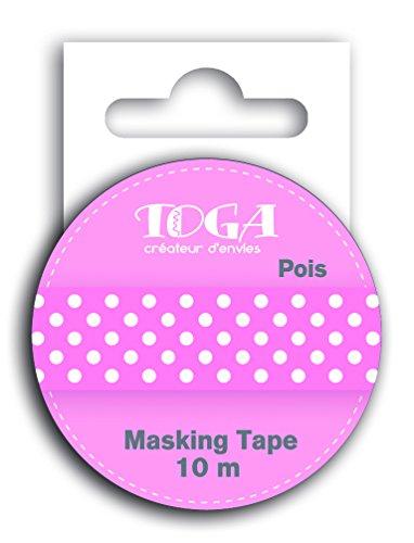 DRAEGER PARIS 1886 MT31 Masking Tape - Pois, Washi, Blanc/Rose, 5,5 x 7 x 1,5 cm