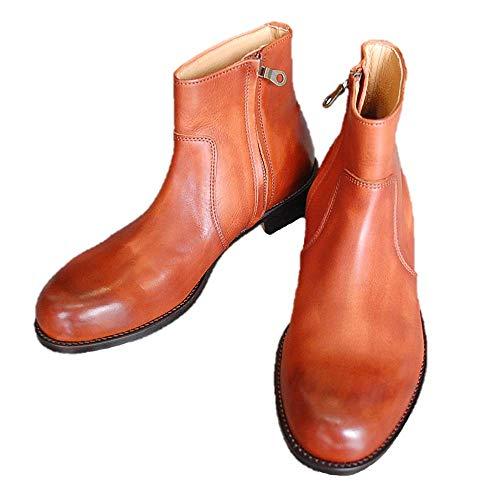 [PADRONE] パドローネ ラウル サイド ジップ ブーツ ( キャメル ) [PU7358-1118-15A] 41 (26.5~27.0cm)