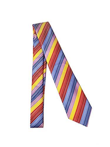 Rainbow Stripe Silk Classic Woven Man Tie Necktie