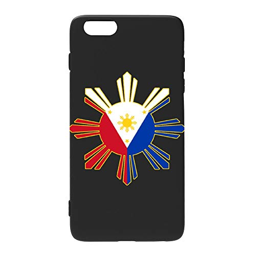 Filipino Flag iPhone 6S Case/iPhone 6 Case, Slim Fit Soft Silicone TPU Cover Case Compatible with iPhone 6/6s 4.7 inch, Clear/Black