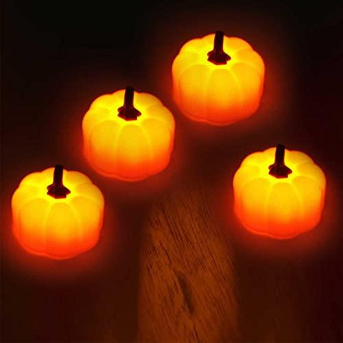 su-xuri - 4 luces de calabaza 3D para Halloween
