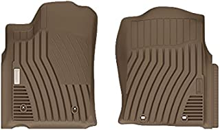 MICHELIN EdgeLiner TYT42435 Custom Fit Front Floor Mats/Liners (2012-2015 Toyota Tacoma) Double Cab, Tan