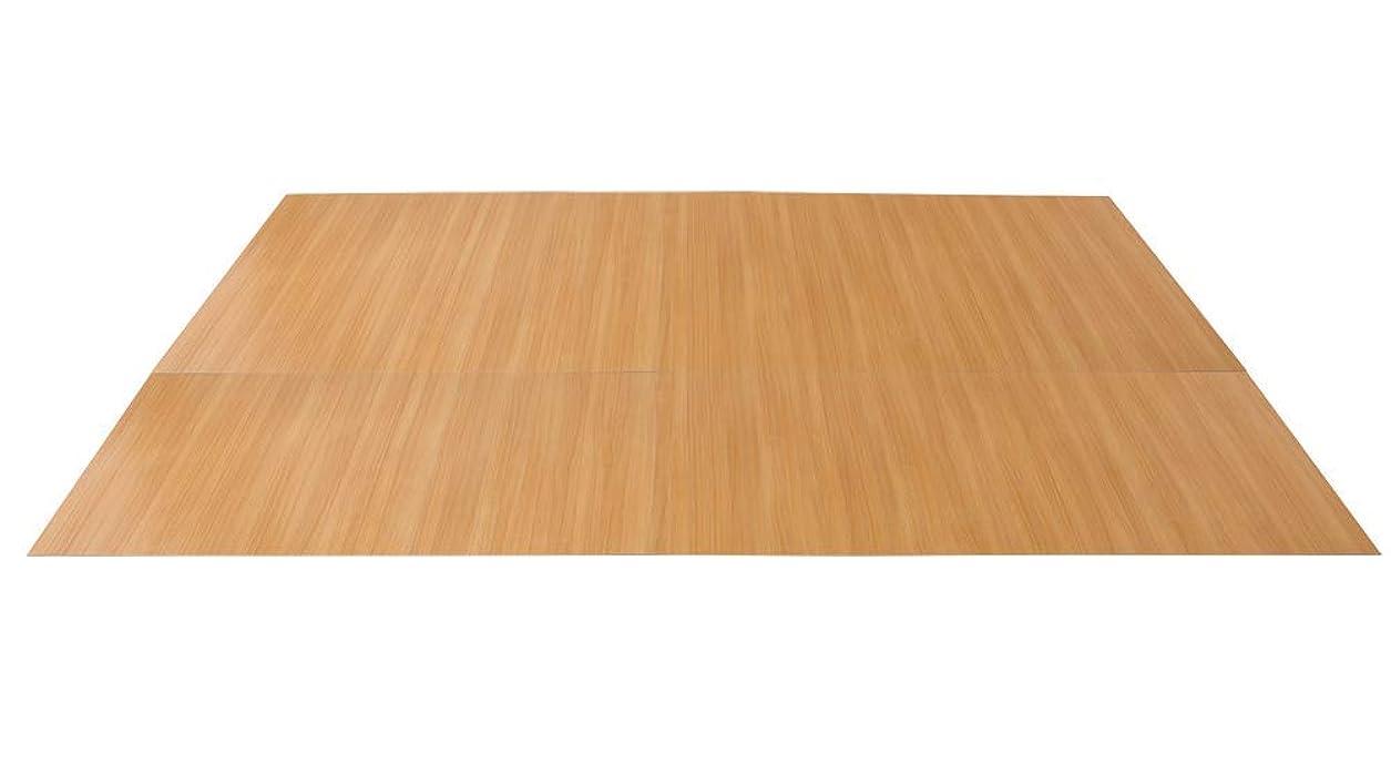 テナント順応性コントラストウッドカーペット 江戸間 6畳 350cm×260cm フローリング フロア材 置くだけ カーペット マット 低ホルマリン 抗菌 防臭 軽量 リフォーム 2梱包 ブラウン ダークブラウン ホワイト (ブラウン)
