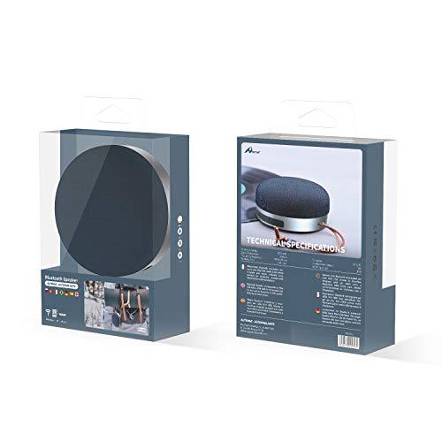 Home Spa-060 Altavoz Bluetooth Portatil,Blutooth Speaker,Altavoz Exterior con Micrófono, BTS/TF,Wireless para Móvil, Tabletas, MP3, Fiestas, Viajes (Red)