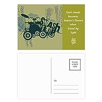 ドラムの音楽パターングラフィティストリート 詩のポストカードセットサンクスカード郵送側20個