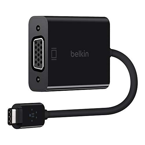 Belkin F2CU037btBLK - Adaptador de USB-C a VGA, Color Negro (Compatible con...