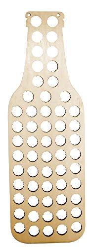 Vin Bouquet Fic 380 - Botella colector de chapas Madera, Ideal para decorar con chapas de botellas antiguas, Marron
