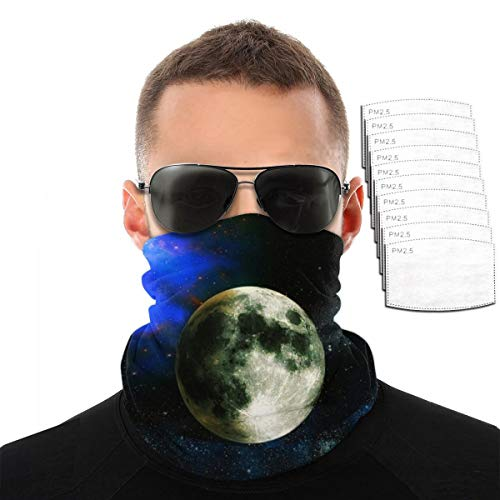 Star Planet Space Men Balaclava, Tactical Mask, Women Sun Hood, Neck Gaiter Dust UV Protection with Filters