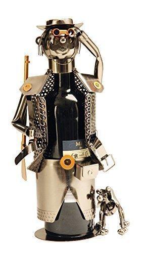 Lifestyle & More Moderno Portabottiglie di Vino Cacciatore in Metallo Altezza 32 cm