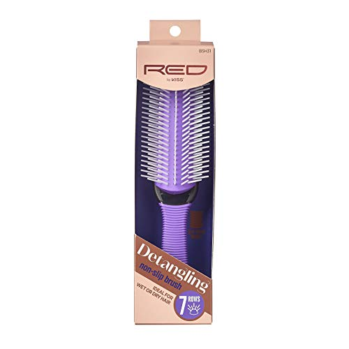 RED by KISS Non-Slip Detangling Brush- 7 rows Ideal for Wet or Dry Hair BSH31
