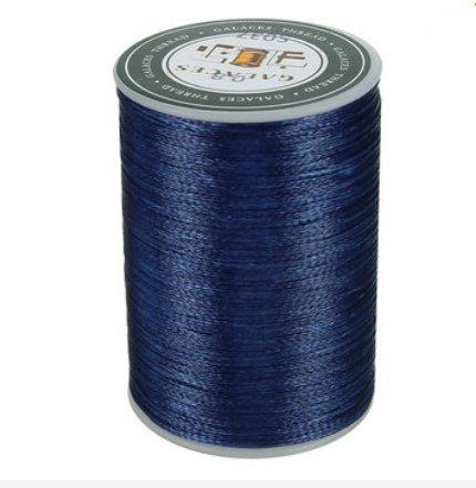 Bluelover Pulsera Encerada De Artesanía De Cuero Cosida con Hilo De Poliéster 0.8Mm 78M - Azul