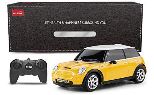 RASTAR Mini Cooper S 1:24 RC giocattolo auto, telecomando auto, regalo per bambini (Giallo)