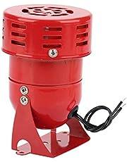 220 V 120 dB motoralarm MS-190 industrieel geluid, elektrische bescherming tegen diefstal, rood motoraangedreven sirene-metalen hoorn-industrieboot alarm