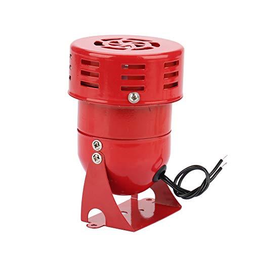 220V 120DB Motoralarm MS-190 Industrieller Schall Elektrischer Schutz gegen Diebstahl Roter motorgetriebener Sirenen-Metallhorn-Industriebootalarm