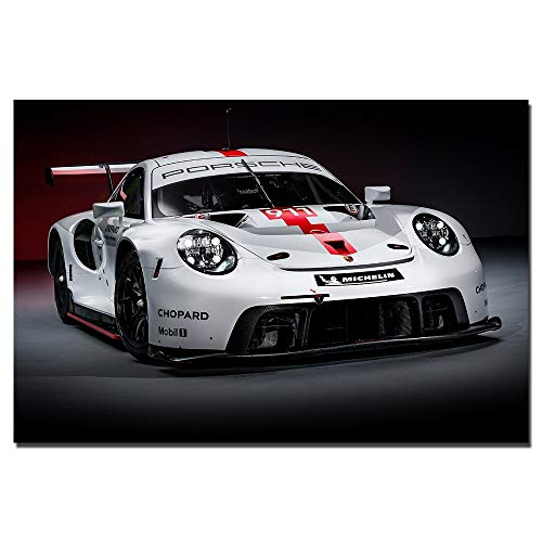 Unknow RSR Supercar SART Art of Wall Poster and FAI Prints of Hemp Canvas Painting Decor Sin Marco 40x60cm