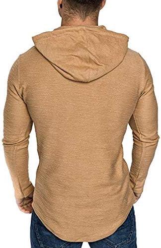 Homme T-Shirt Manche Longue Pull /à Capuche L/éger Top Tee Basic Casual Automne