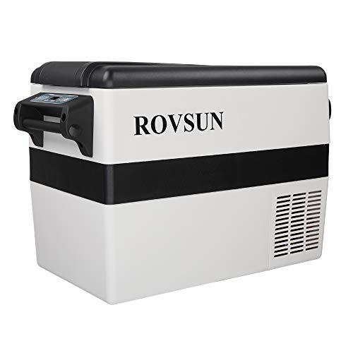 ROVSUN 12 Volt Portable Car Refrigerator, 44 Quart -4℉~50℉ Compressor Freezer for RV/Truck/Camping/Travel/Home/Boat, 12/24V DC 110V AC, Anti-Shock & Battery Protective