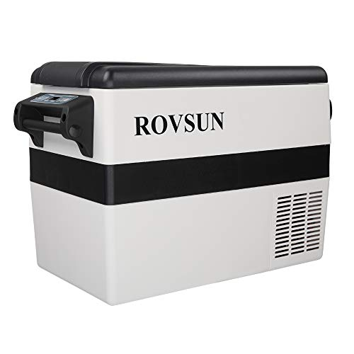 ROVSUN Car Refrigerator, 44 Quart, 12V 110 V, -4°F to 50°F Portable Freezer for Auto, RV, Truck, Camping, Travelling, Home, Compressor Cooler, Anti-Shock and Battery Protective (44 Quart)