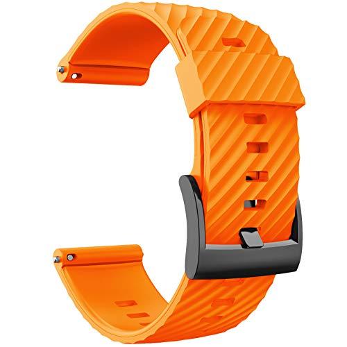 Sweo Correa de reloj para Suunto- 7/9/bararo/D5 buceo suave silicona inteligente reloj...