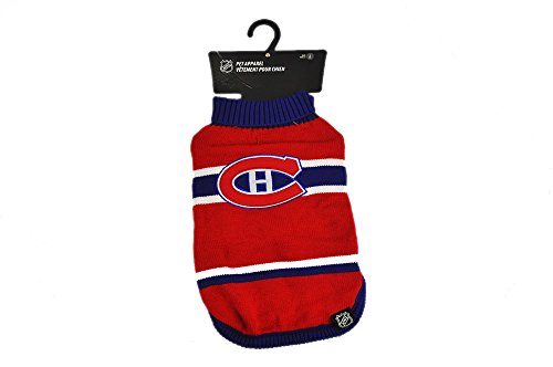Protect Me Alerts NHL Montreal Canadiens Vintage Knit Dog Sweater, Small