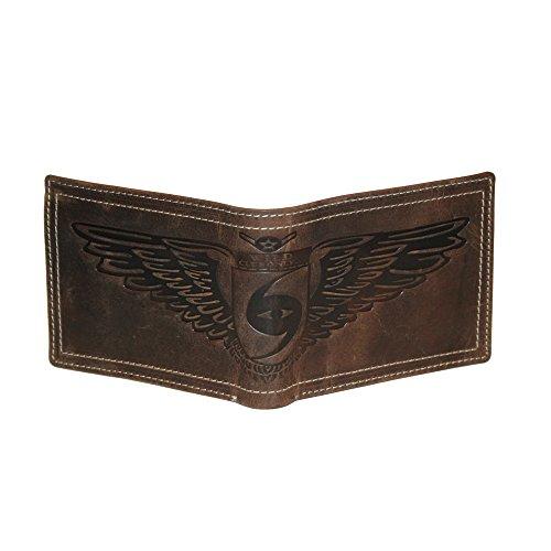 Geldbörse Leder Herren Portemonnaie Handgemacht von WILD (Querformat) Spitzenprodukt der Marke WILD aus hochwertigem Leder
