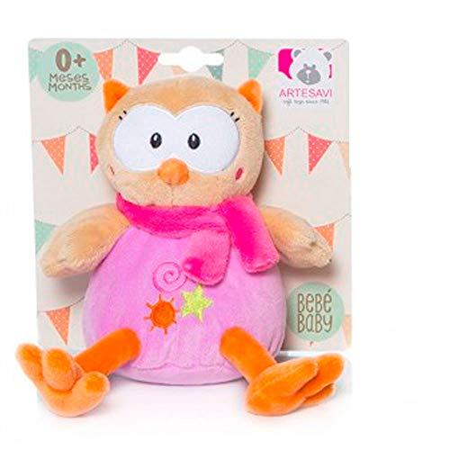 ARTESAVI - Baby Mini Buho Lila Sentado Sonajero - 01992349