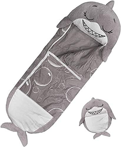 Saco de Dormir y Almohada de Juego Grande, 165 x 60 cm, Saco de Dormir para niños, Saco de Dormir 2 en 1, Plegable como un cojín Suave y cómodo, un Regalo Sorpresa para niños