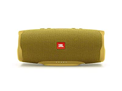JBL Charge 4 Portable Bluetooth Speaker and Power Bank with Rechargeable Battery for More Devices – Waterproof – Yellow by JBL