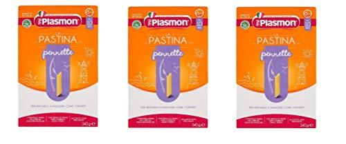 3x PLASMON pastina Pennette pasta Babynahrung nudeln ab 10° Monaten 340g