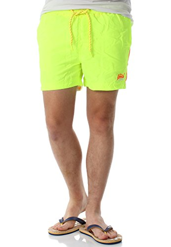 Superdry Badeshorts Herren Beach Volley Swim Short Cuba Green, Größe:M