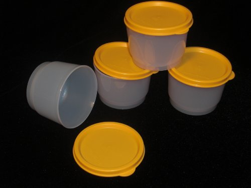 Tupperware Snack Cups. Set of four with Goldenberry Seals