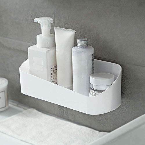 2 uds cesta de ducha adhesiva organizador de estante de baño estante de almacenamiento de especias montado en la pared estante de ducha sin perforaciones esenciales para el baño