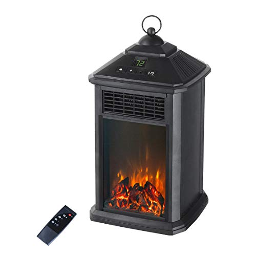 LIFE-SMART 400 WATT LANTERN GLOW ELECTRIC HEATER WITH FLAME EFFECT Heater Infrared Space
