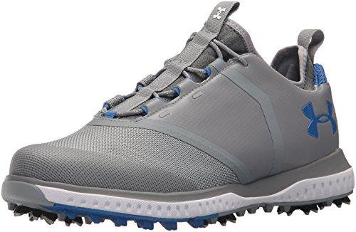 Under Armour Men's Tempo Sport 2 Golf Shoe, Steel (101)/Mediterranean, 11