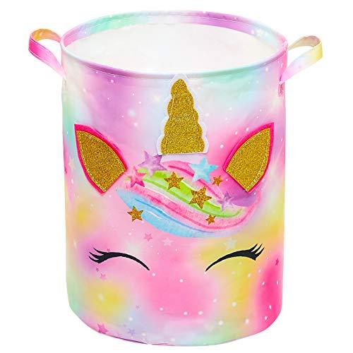 Basumee Unicorn Laundry Basket W...