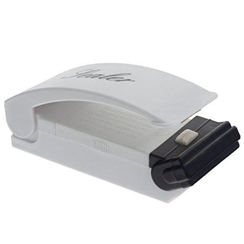 Smartfox Folienschweißgerät Einschweissgerät Handschweissgerät Tüten Verschweißer für Plastik Verpackungen wie Snacks Chipstüten Kaffeetüten Süßigkeiten UVM
