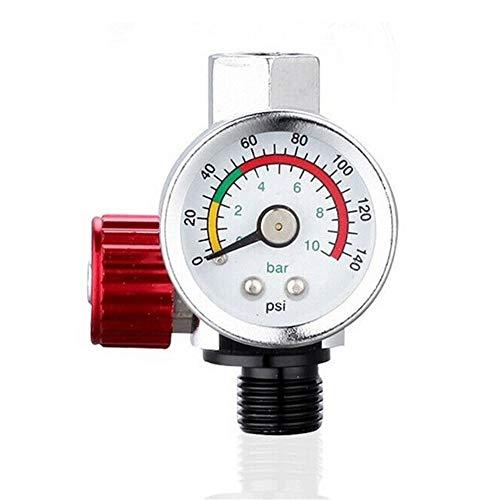 YIJIAN-UMBRELLA Válvula 1pc 1/4 Pulgadas neumático de Aire de Control del compresor calibrador de presión de regulación regulador de la válvula for el Spray Herramienta de Aire Tool